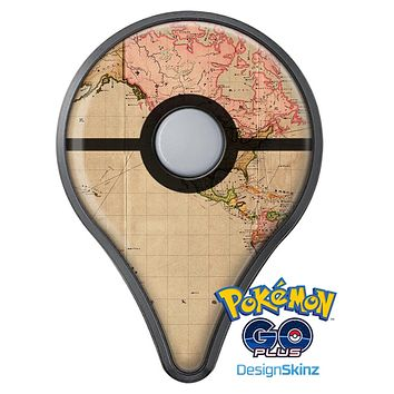 The Western World Overview Map Pokémon GO Plus Vinyl Protective Decal Skin Kit