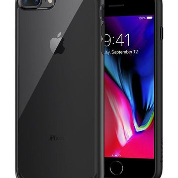 Spigen Ultra Hybrid [2nd Generation] iPhone 7 Plus Case / iPhone 8 Plus Case with Clear Backing and Air Cushion Technology for iPhone 7 Plus (2016) / iPhone 8 Plus (2017) - Black