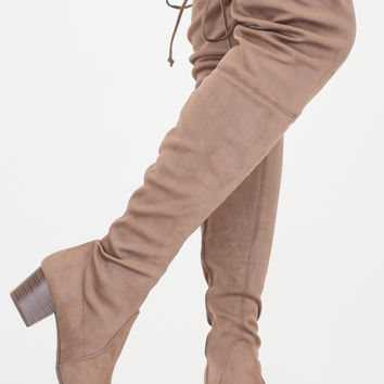 Run This City Chunky Thigh-High Boots GoJane.com