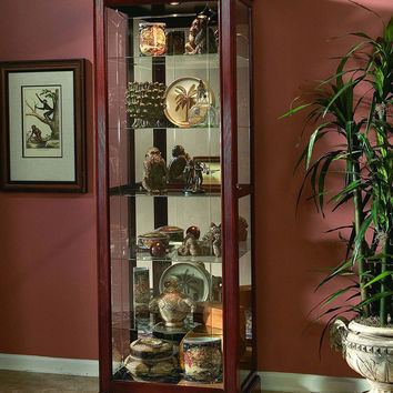 Victorian Cherry Curio Cabinet by Pulaski Furniture