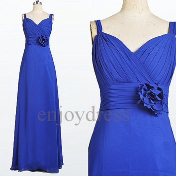 Custom Royal Blue Long Prom Dresses Simple Party Dress Wedding Party Dress Evening Gowns Bridesmaid Dresses Simple Cheap Dress