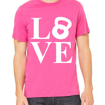 Love Kettlebell T-Shirt Unisex Women's Men's Gym Workout Fitness Funny Funny Muscle
