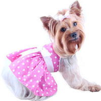 Dog Apparel, Pet Dress, Puppy, Pink, Cute, Harness, Walking, Small, XXS, Princess, Vests, Boutique