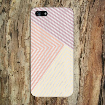 Purple x Peach x Gold Geometric Striped Wood Design Case for iPhone 6 6 Plus iPhone 5 5s 5c iPhone 4 4s Samsung Galaxy s6 s5 s4 and Note 4