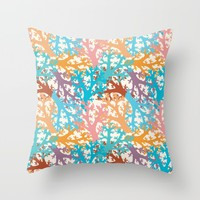 Pastel Marine Pattern 05 Throw Pillow by Aloke Design