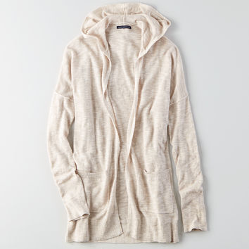 AEO Hooded Pocket Cardigan , Oatmeal