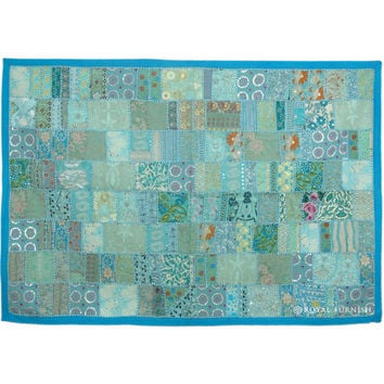 Antique India Hand Sewn Vintage Patchwork Wall Tapestry