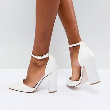 ASOS PEBBLE Bridal Pointed High Heels at asos.com