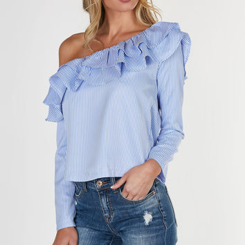 With The Flow One Shoulder Blouse