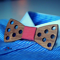 FREE SHIPPING! Stylish wooden bow tie for dandy. Underline your style. Handicraft mens gift