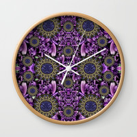 Flowers from paradise in fantasy elegante Wall Clock by Pepita Selles