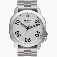 Nixon Ranger 45 Watch Silver One Size For Men 25965414001