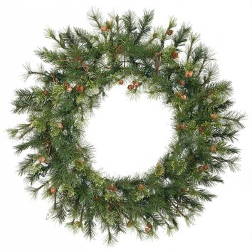 """36"""" Mixed Country Pine Artificial Christmas Wreath - Unlit"""