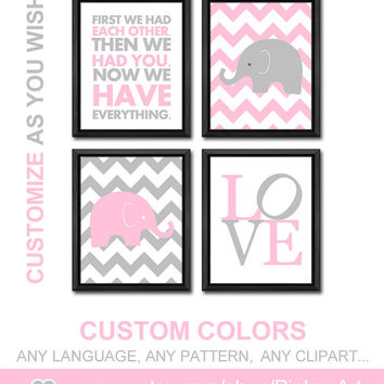 child wall art playroom decor girls room decor chevron nursery wall art baby nursery decor nursery poem baby gift for new parents girl decor
