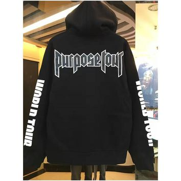 HCXX Fashion Hip hop justin bieber purpose tour sweatshirt hoodies men women pullover sportswear hoodies brand clothing high quality