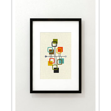 VIEW - Giclee Print - Mid Century Modern Danish Modern Minimalist Nail Art Modernist Abstract Eames