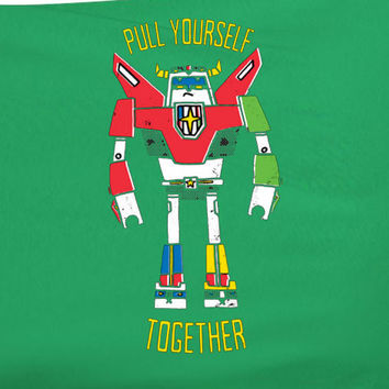 80s Hit Cartoon Voltron Abstract style hipster Pull yourself together tee t-shirt 80's