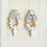 Ivory Bird of Paradise Earrings