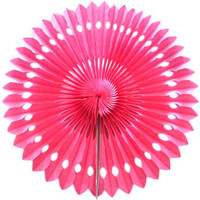 Paper fan Hot Pink decorations //  Photo booth prop // children's party decor // Pinwheel // Wedding backdrop  / Pomwheel / Party Decoration