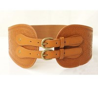 OASAP - Double Pin Buckle Embossed Belt - Street Fashion Store