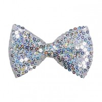 Sequin Hair Bow Snap