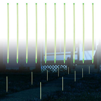 10 Glow in the Dark Path Marker Rods by Pure Garden