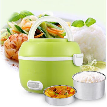 2016 Newest 1.2L Portable Lunch Box Electric Rice Cooker 200W Multifunction Mini Rice Cooker