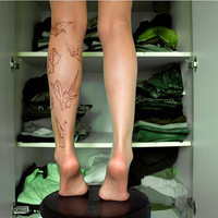 $22.00 Tattoo Tights  Origami birds by tattotights on Etsy