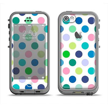 The Fun Colored Vector Polka Dots Apple iPhone 5c LifeProof Fre Case Skin Set