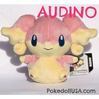 * AUDINO * Pokemon Center Plush Toy Audino Pokedoll