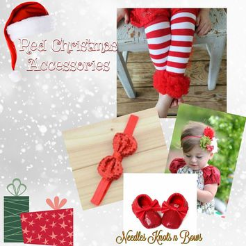 Red Christmas Girls Accessories