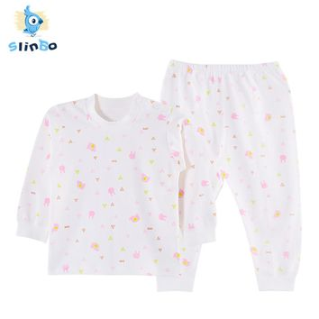 SlinBo Brand 100% Cotton Infant Set Long Sleeve Animal Print Baby Pullover+Pants Newborn Baby Boys Girls Clothing Sets Xmas V076