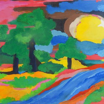 Abstract Fauvist Landscape Painting