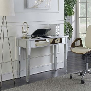 Bedroom Vanity Desk with Glass Mirror Inlay with 2 Drawers