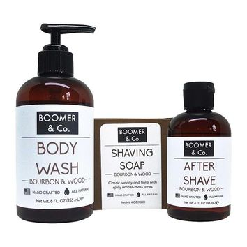 Bourbon & Sandalwood Men's Grooming Kit