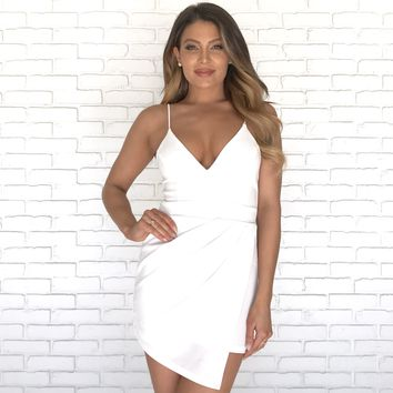 Young Love White Wrap Romper