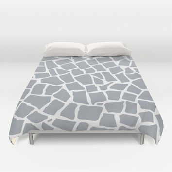 Mosaic Zoom Grey Duvet Cover by Project M | Society6