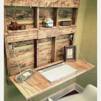 Pallet Wood Fold-Out Desk