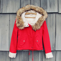 Sherpa Coat in Red