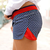 Jadelynn Brooke Shorts- Navy Stars- FINAL SALE