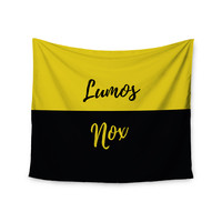"Jackie Rose ""Turn On The Light"" Yellow Typography Wall Tapestry"