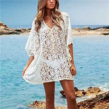 Beach Lace Cover up Dress