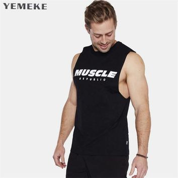 Tank Top Men Bodybuilding Clothing and Fitness Men Sleeveless Shirt fitness Vests Cotton Singlets Muscle Tops