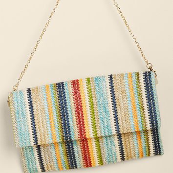 Take Color Straw Clutch