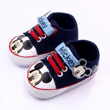 Baby Boys Girls Mickey Mouse Canvas Shoes