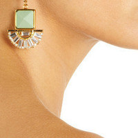 Marni | Gold-tone horn and glass crystal clip earrings | NET-A-PORTER.COM