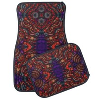 Crazy Abstract Pattern Car Mat Sets