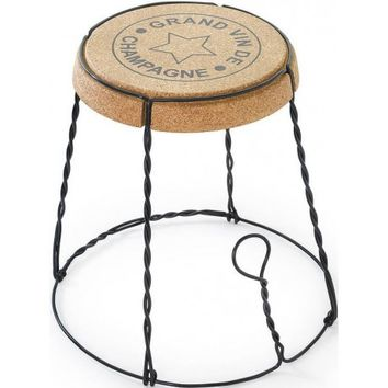 Champagne Cork Wire Cage Side Table | Design 55