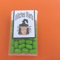 HALLOWEEN WITCHES WARTS, candy,Tic Tacs,labels,stickers,favors,treat