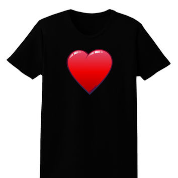 Cute Cartoon Heart Womens Dark T-Shirt